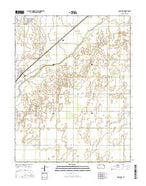 Garfield Kansas Current topographic map, 1:24000 scale, 7.5 X 7.5 Minute, Year 2015 from Kansas Map Store
