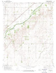 Garfield Kansas Historical topographic map, 1:24000 scale, 7.5 X 7.5 Minute, Year 1972