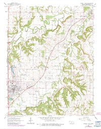 Garnett East Kansas Historical topographic map, 1:24000 scale, 7.5 X 7.5 Minute, Year 1966