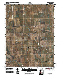 Gaylord SW Kansas Historical topographic map, 1:24000 scale, 7.5 X 7.5 Minute, Year 2009