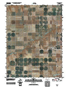 Gem Kansas Historical topographic map, 1:24000 scale, 7.5 X 7.5 Minute, Year 2009