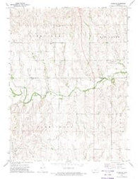 Glade SE Kansas Historical topographic map, 1:24000 scale, 7.5 X 7.5 Minute, Year 1972