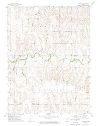 Glade SW Kansas Historical topographic map, 1:24000 scale, 7.5 X 7.5 Minute, Year 1972