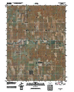Glade SW Kansas Historical topographic map, 1:24000 scale, 7.5 X 7.5 Minute, Year 2009