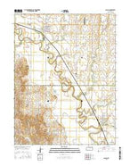 Glasco Kansas Current topographic map, 1:24000 scale, 7.5 X 7.5 Minute, Year 2015 from Kansas Map Store