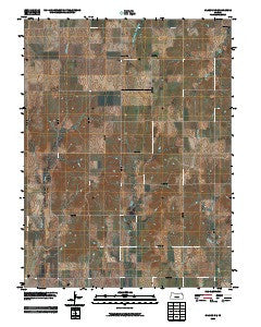 Glasco NE Kansas Historical topographic map, 1:24000 scale, 7.5 X 7.5 Minute, Year 2009
