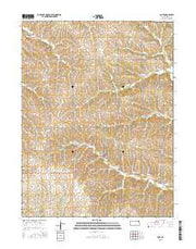 Goff Kansas Current topographic map, 1:24000 scale, 7.5 X 7.5 Minute, Year 2015 from Kansas Maps Store