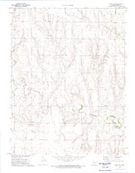 Gove NE Kansas Historical topographic map, 1:24000 scale, 7.5 X 7.5 Minute, Year 1972