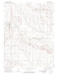 Gove Kansas Historical topographic map, 1:24000 scale, 7.5 X 7.5 Minute, Year 1972