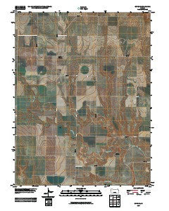 Gove SE Kansas Historical topographic map, 1:24000 scale, 7.5 X 7.5 Minute, Year 2009