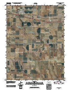 Grainfield Kansas Historical topographic map, 1:24000 scale, 7.5 X 7.5 Minute, Year 2009