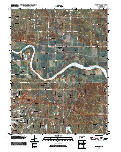 Grantville Kansas Historical topographic map, 1:24000 scale, 7.5 X 7.5 Minute, Year 2009