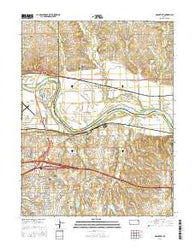 Grantville Kansas Current topographic map, 1:24000 scale, 7.5 X 7.5 Minute, Year 2016