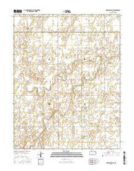 Greensburg NE Kansas Current topographic map, 1:24000 scale, 7.5 X 7.5 Minute, Year 2016