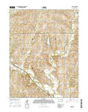 Grove Kansas Current topographic map, 1:24000 scale, 7.5 X 7.5 Minute, Year 2015 from Kansas Maps Store