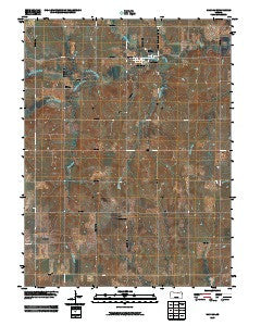 Haddam Kansas Historical topographic map, 1:24000 scale, 7.5 X 7.5 Minute, Year 2009