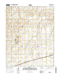 Haggard Kansas Current topographic map, 1:24000 scale, 7.5 X 7.5 Minute, Year 2016