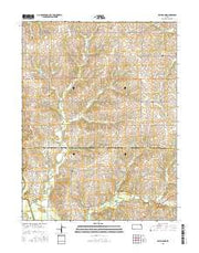 Half Mound Kansas Current topographic map, 1:24000 scale, 7.5 X 7.5 Minute, Year 2015 from Kansas Maps Store