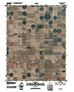 Halford Kansas Historical topographic map, 1:24000 scale, 7.5 X 7.5 Minute, Year 2009