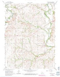 Hanover SW Kansas Historical topographic map, 1:24000 scale, 7.5 X 7.5 Minute, Year 1966