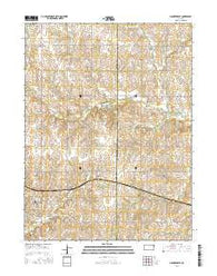 Hanover East Kansas Current topographic map, 1:24000 scale, 7.5 X 7.5 Minute, Year 2016