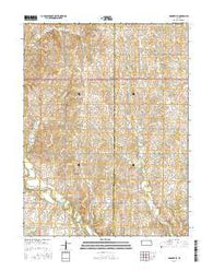 Hanover SE Kansas Current topographic map, 1:24000 scale, 7.5 X 7.5 Minute, Year 2016
