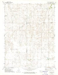 Hanston SE Kansas Historical topographic map, 1:24000 scale, 7.5 X 7.5 Minute, Year 1972