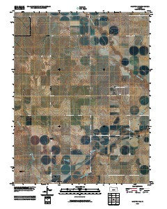 Hanston NW Kansas Historical topographic map, 1:24000 scale, 7.5 X 7.5 Minute, Year 2009