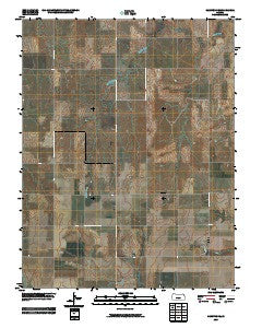 Hanston SE Kansas Historical topographic map, 1:24000 scale, 7.5 X 7.5 Minute, Year 2009