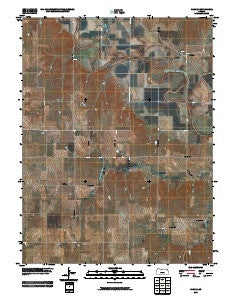 Harlan Kansas Historical topographic map, 1:24000 scale, 7.5 X 7.5 Minute, Year 2009