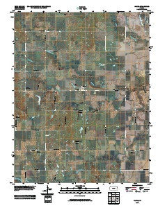 Harris Kansas Historical topographic map, 1:24000 scale, 7.5 X 7.5 Minute, Year 2009