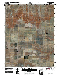 Harrison Flats Kansas Historical topographic map, 1:24000 scale, 7.5 X 7.5 Minute, Year 2009