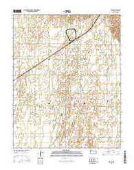 Hayne Kansas Current topographic map, 1:24000 scale, 7.5 X 7.5 Minute, Year 2016