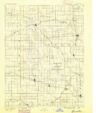 Hiawatha Kansas Historical topographic map, 1:125000 scale, 30 X 30 Minute, Year 1888