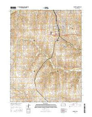 Hiawatha Kansas Current topographic map, 1:24000 scale, 7.5 X 7.5 Minute, Year 2015 from Kansas Maps Store