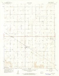 Hickok Kansas Historical topographic map, 1:24000 scale, 7.5 X 7.5 Minute, Year 1959