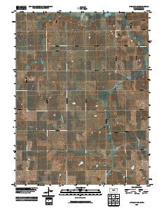 Highland NW Kansas Historical topographic map, 1:24000 scale, 7.5 X 7.5 Minute, Year 2009