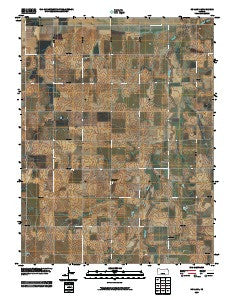 Holland Kansas Historical topographic map, 1:24000 scale, 7.5 X 7.5 Minute, Year 2009