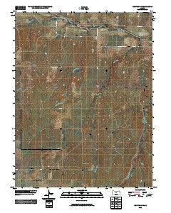 Holyrood NE Kansas Historical topographic map, 1:24000 scale, 7.5 X 7.5 Minute, Year 2009