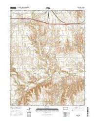 Homer Kansas Current topographic map, 1:24000 scale, 7.5 X 7.5 Minute, Year 2016