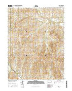 Idana Kansas Current topographic map, 1:24000 scale, 7.5 X 7.5 Minute, Year 2015 from Kansas Map Store