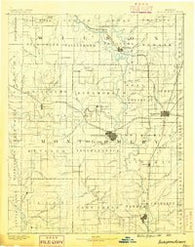 Independence Kansas Historical topographic map, 1:125000 scale, 30 X 30 Minute, Year 1886