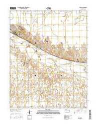 Ingalls Kansas Current topographic map, 1:24000 scale, 7.5 X 7.5 Minute, Year 2016