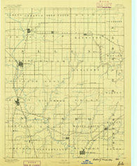 Iola Kansas Historical topographic map, 1:125000 scale, 30 X 30 Minute, Year 1886