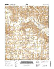 Irish Flats SE Kansas Current topographic map, 1:24000 scale, 7.5 X 7.5 Minute, Year 2016 from Kansas Maps Store