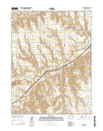 Jennings Kansas Current topographic map, 1:24000 scale, 7.5 X 7.5 Minute, Year 2015 from Kansas Map Store