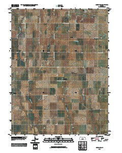 Jewell SW Kansas Historical topographic map, 1:24000 scale, 7.5 X 7.5 Minute, Year 2009