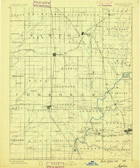 Joplin Missouri Historical topographic map, 1:125000 scale, 30 X 30 Minute, Year 1886