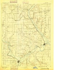 Junction City Kansas Historical topographic map, 1:125000 scale, 30 X 30 Minute, Year 1889