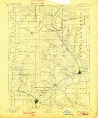 Junction City Kansas Historical topographic map, 1:125000 scale, 30 X 30 Minute, Year 1894